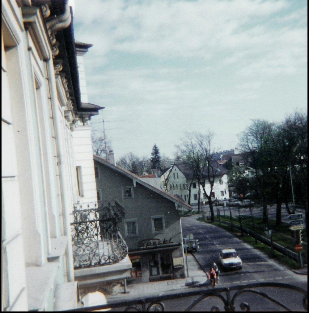 Pfanzeltplatz Blick vom Balkon